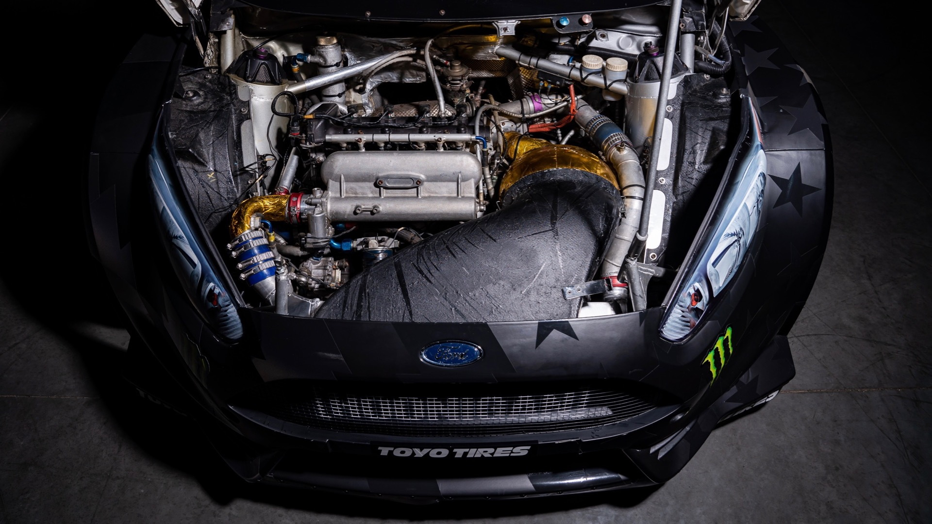 Ken Block's 2013 Ford Fiesta rally car (Photo by LBI Limited)