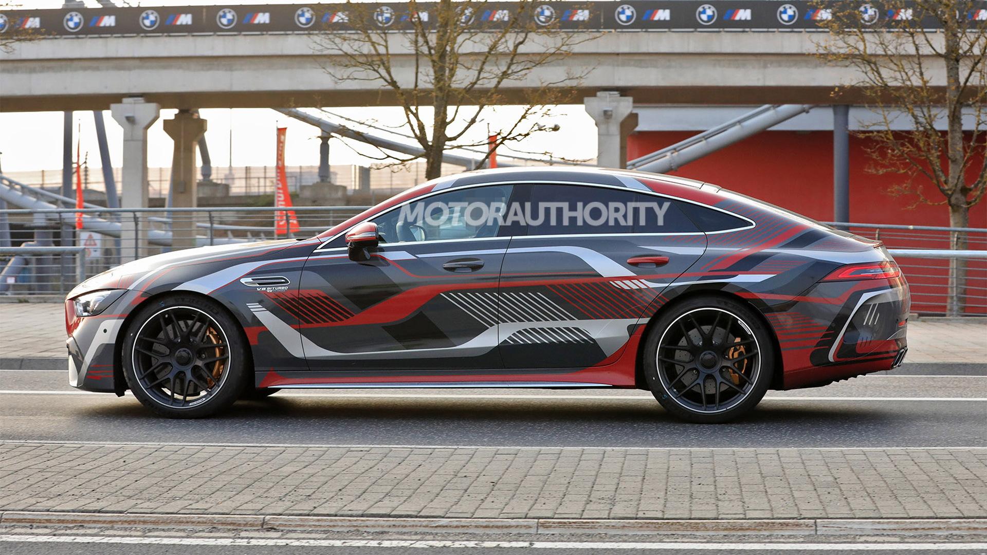 2022 Mercedes-Benz AMG GT 73e 4-Door Coupe spy shots - Photo credit: S. Baldauf/SB-Medien