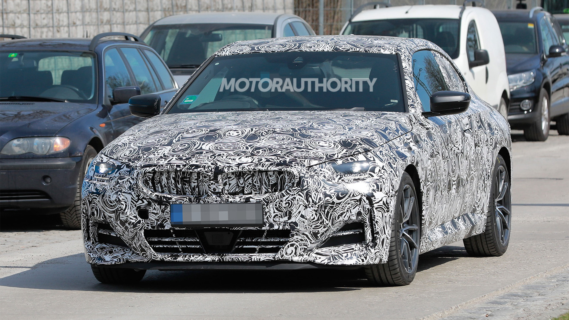 2022 BMW 2-Series spy shots - Photo credit: S. Baldauf/SB-Medien