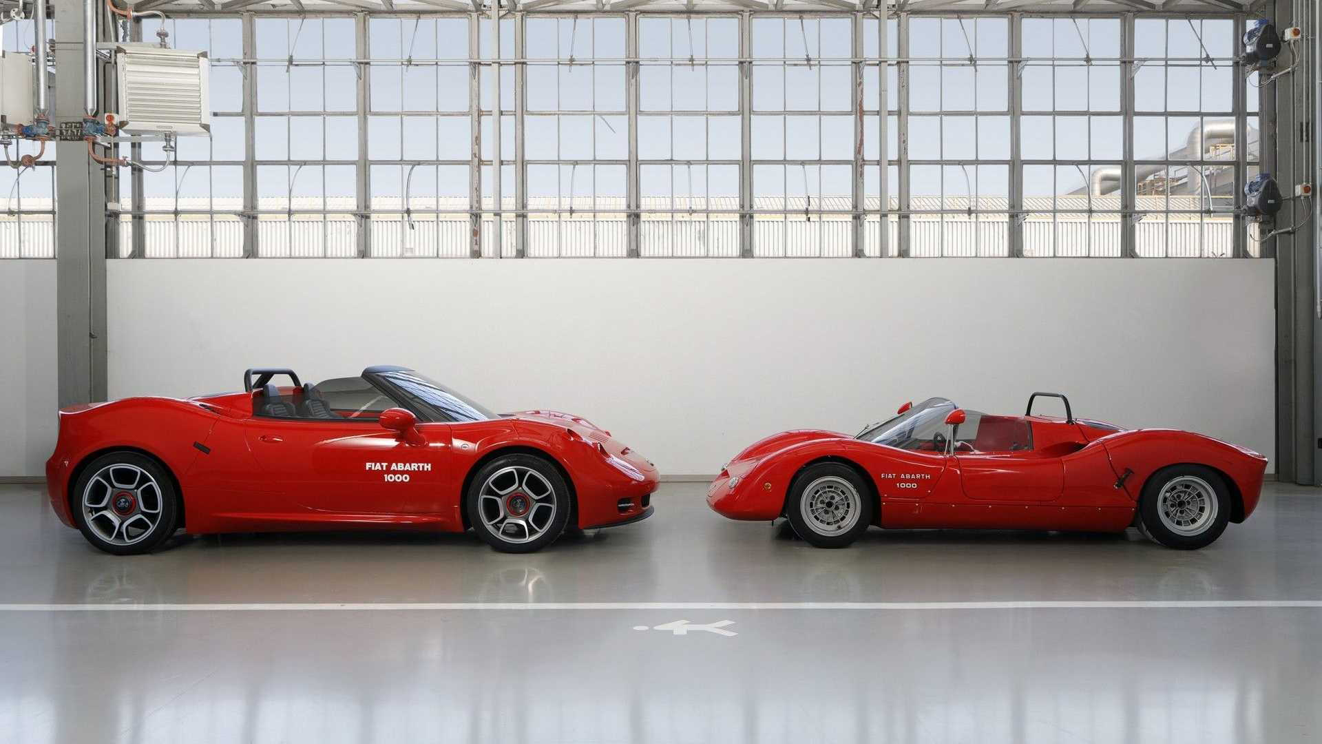 1966 Fiat Abarth 1000 SP with Fiat Abarth 1000 SP concept