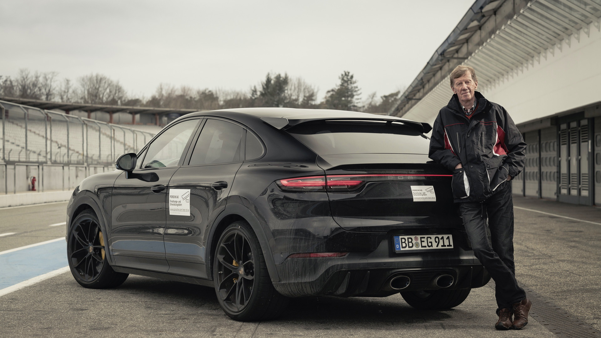 Walter Röhrl and the new Porsche Cayenne Coupe variant