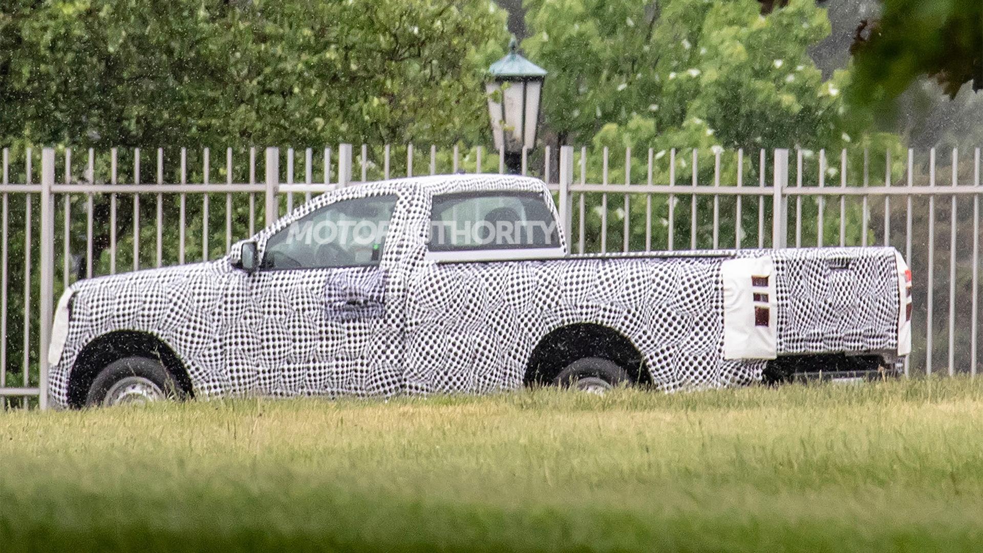 2022 Ford Ranger Single Cab spy shots - Photo credit: S. Baldauf/SB-Medien