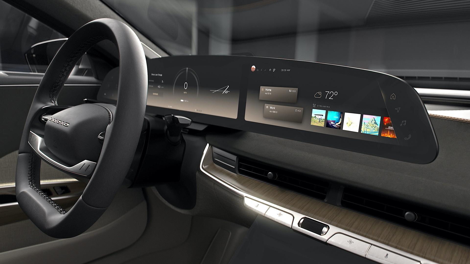 Lucid Air interior  -  user interface