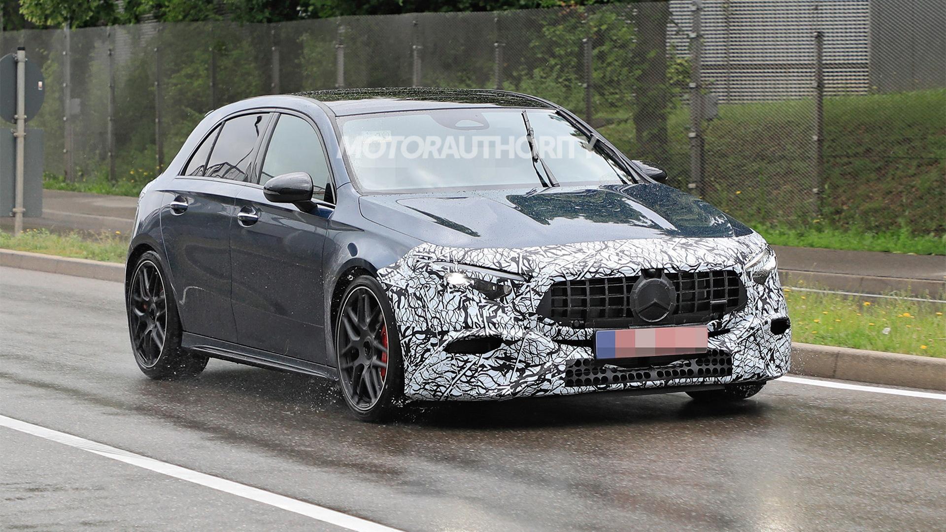 2023 Mercedes-Benz AMG A45 Hatchback facelift spy shots - Photo credit:S. Baldauf/SB-Medien
