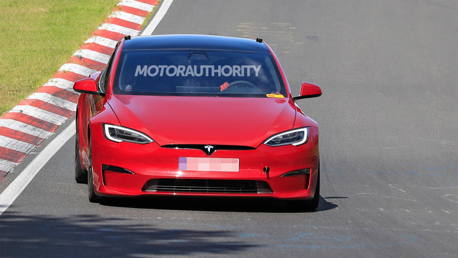 2021 Tesla Model S Plaid at the Nürburgring - Photo credit:S. Baldauf/SB-Medien