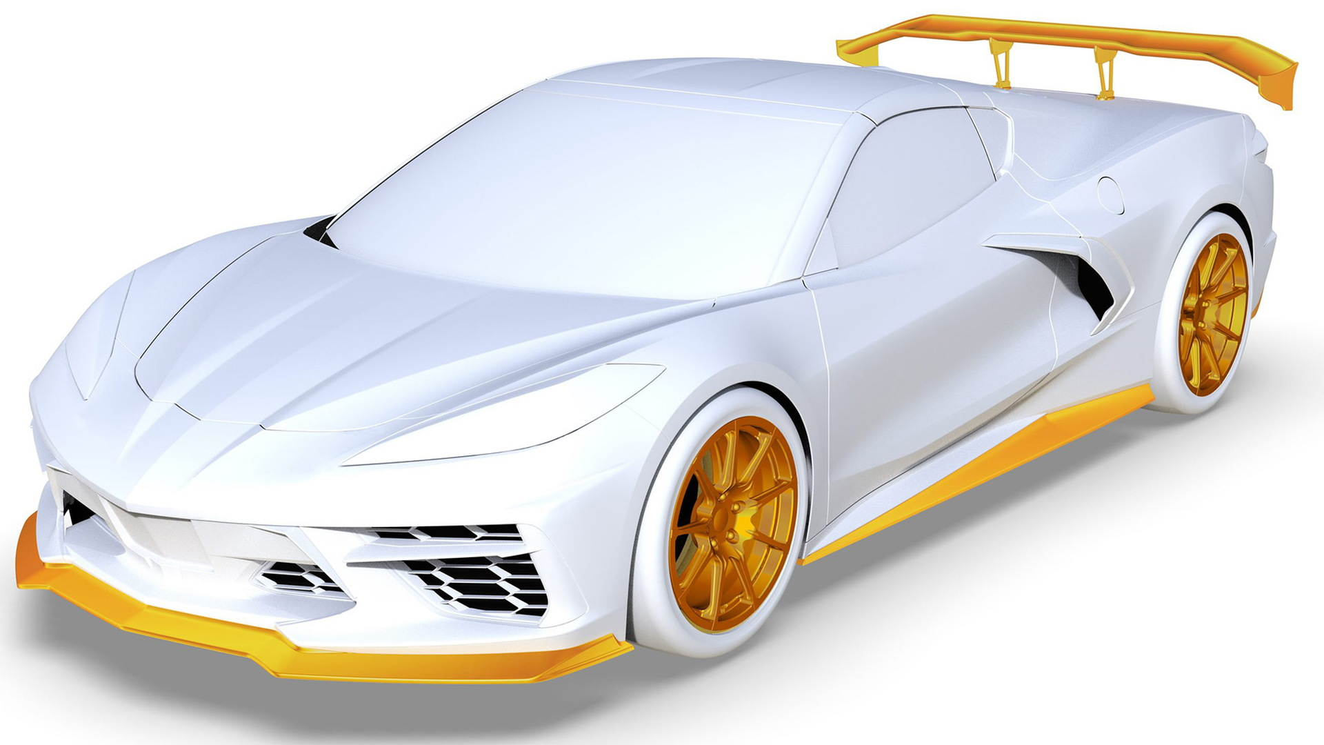 Teaser for 2021 Callaway Corvette Launch Edition