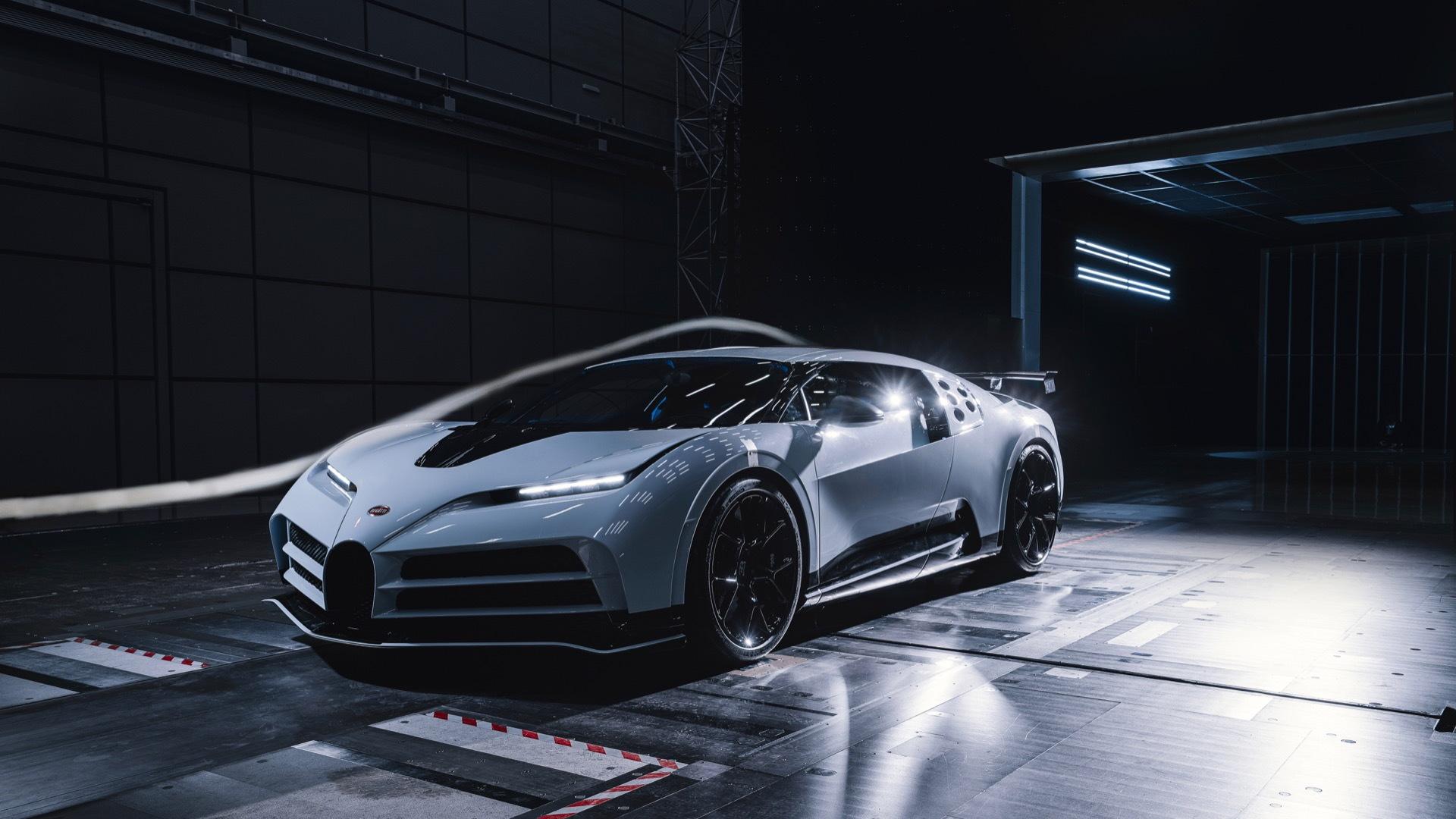 Bugatti Centodieci wind tunnel testing