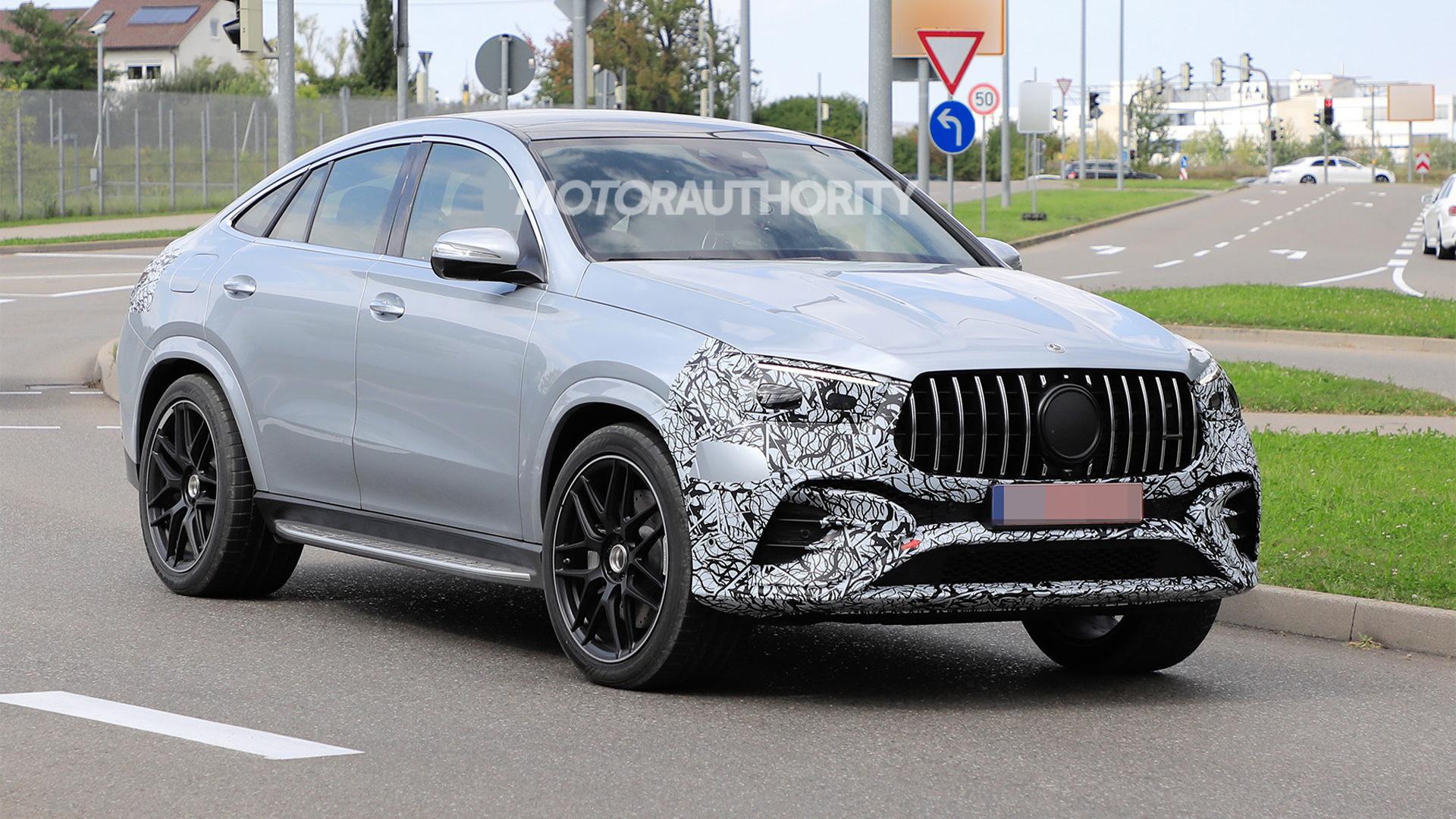 2023 Mercedes-Benz AMG GLE53 Coupe facelift spy shots - Photo credit: S. Baldauf/SB-Medien