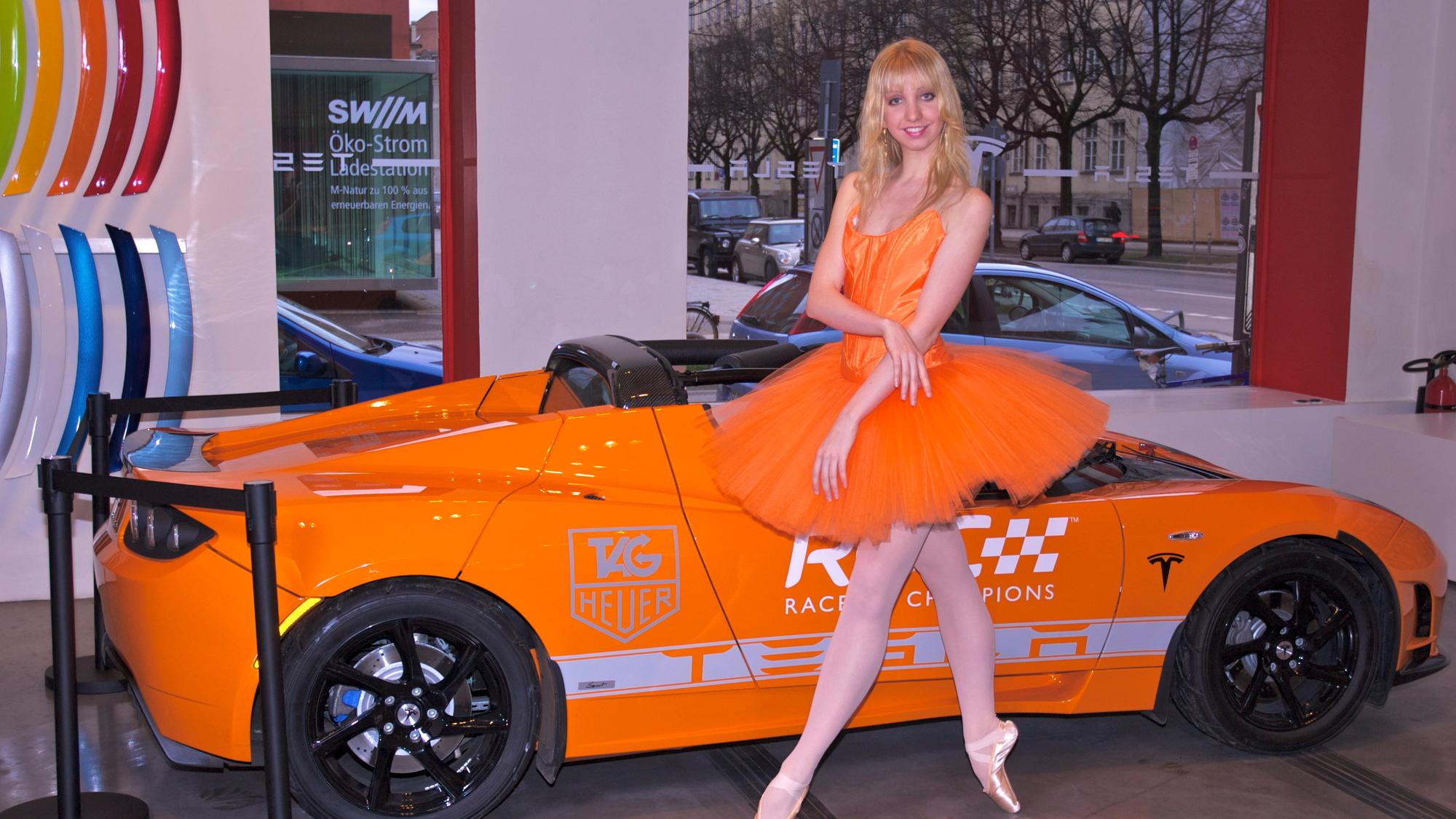 Tangerine Tutu Tesla Ballerina