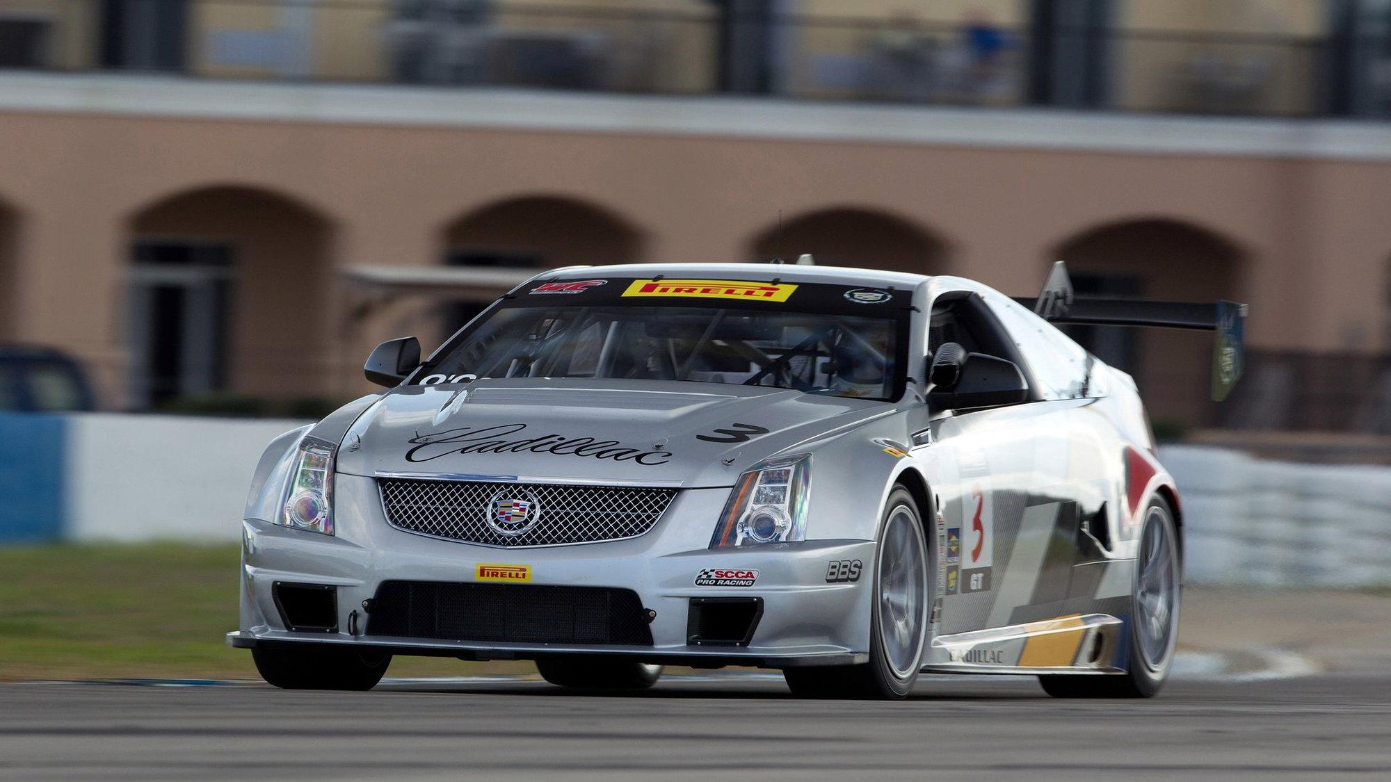 Cadillac CTS-V Coupe race car testing at Sebring