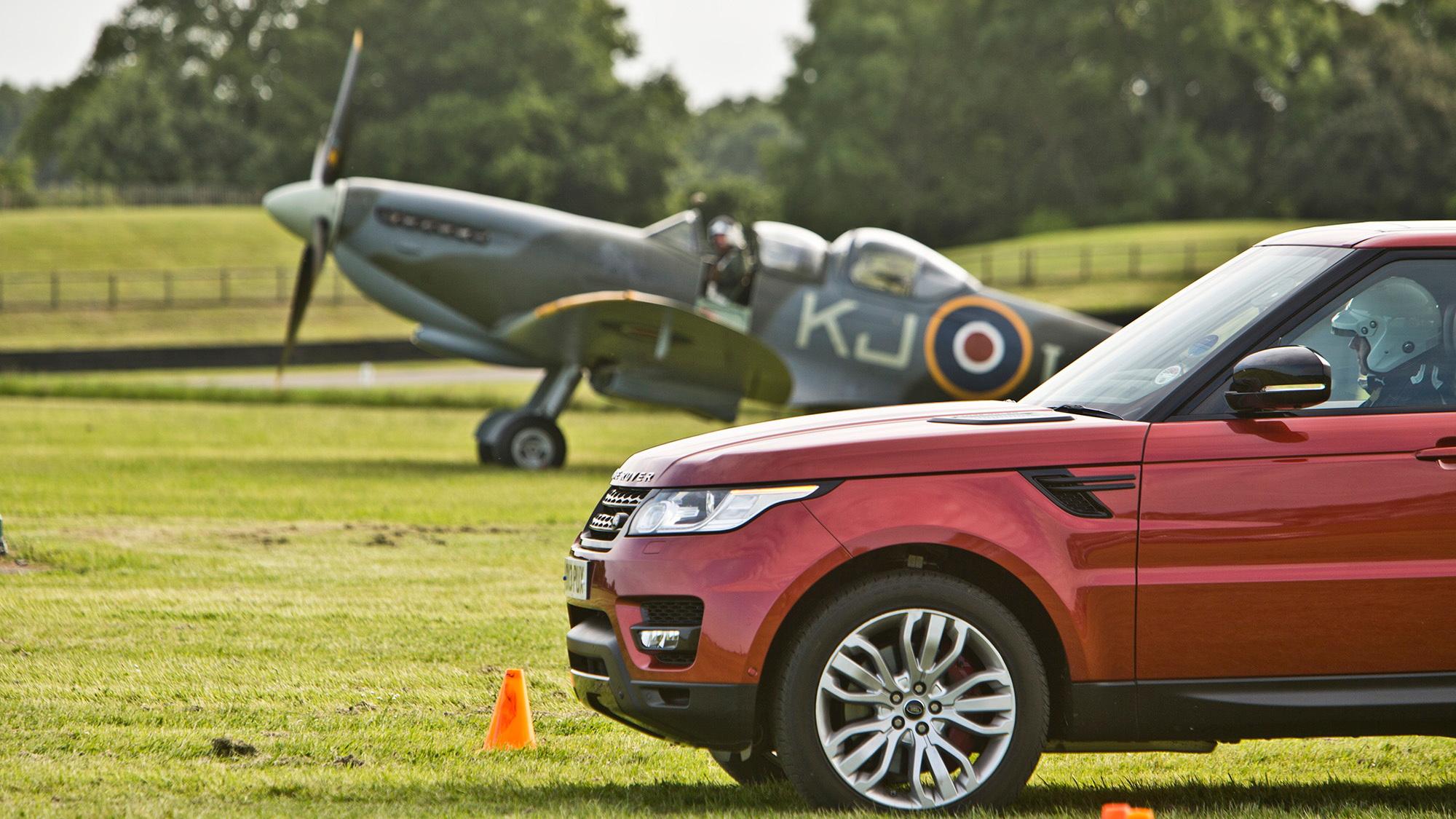 Range Rover Sport versus Spitfire