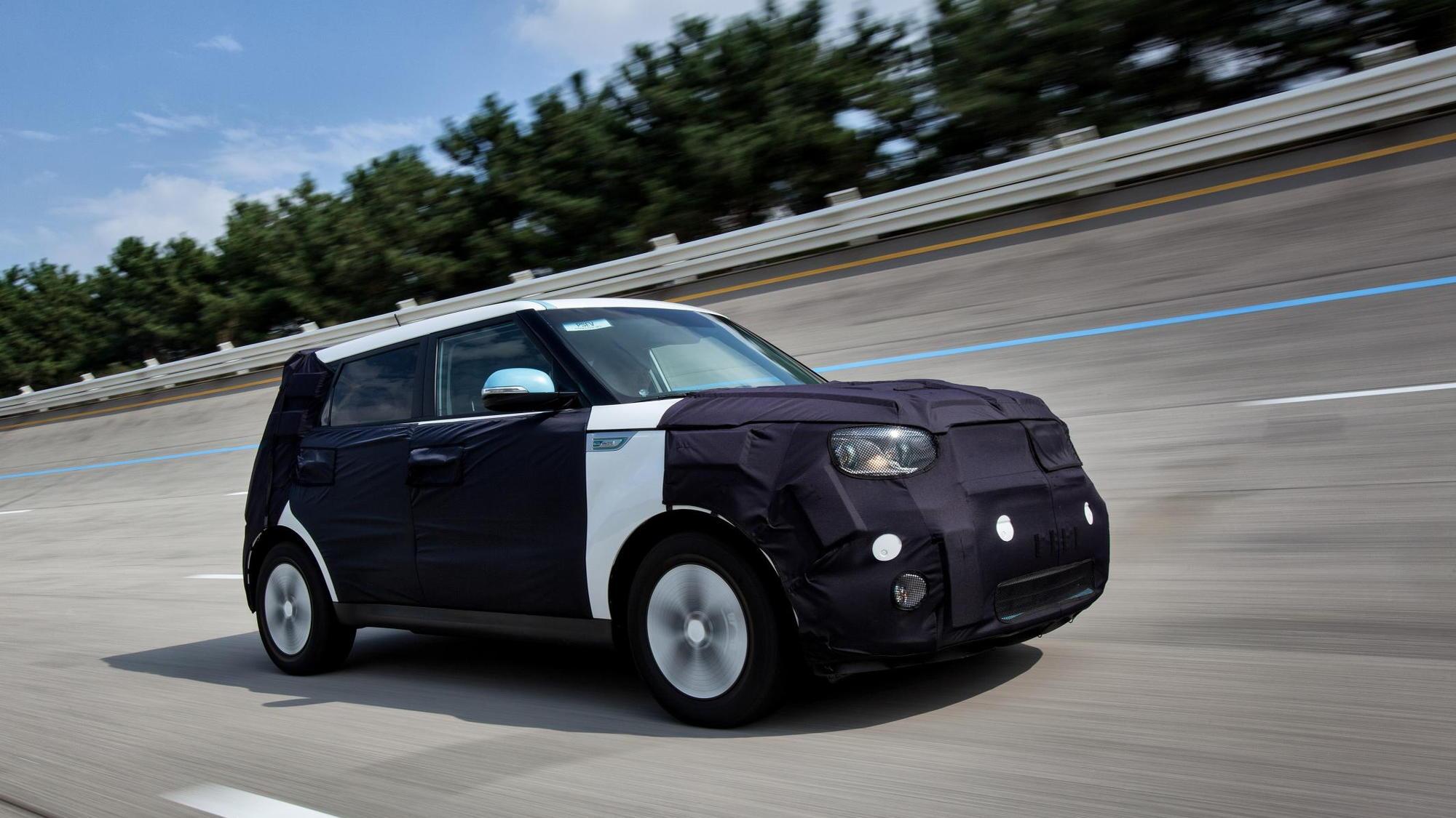 Kia Soul EV camouflaged prototype