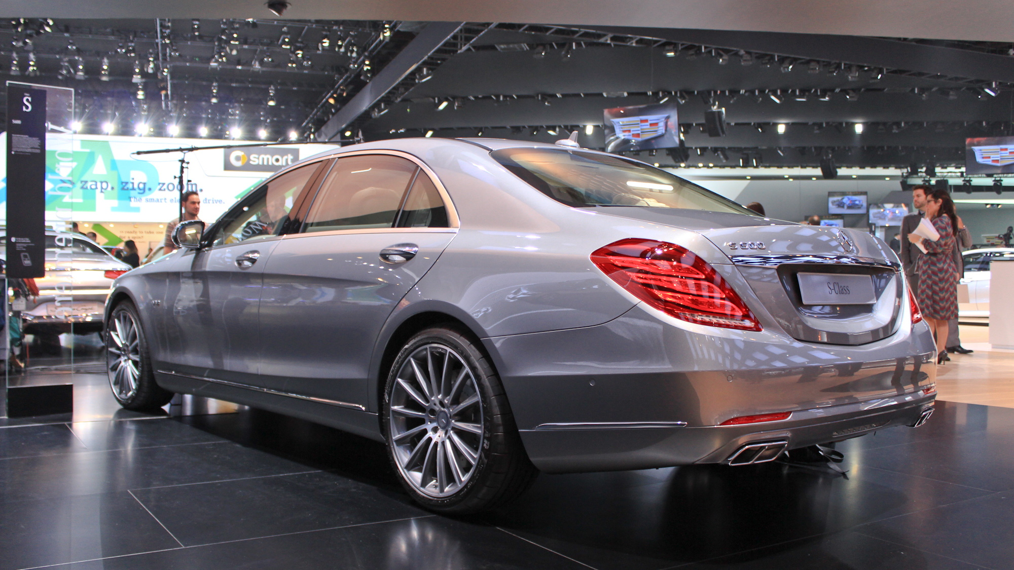 2015 Mercedes-Benz S600 live photos, 2014 Detroit Auto Show