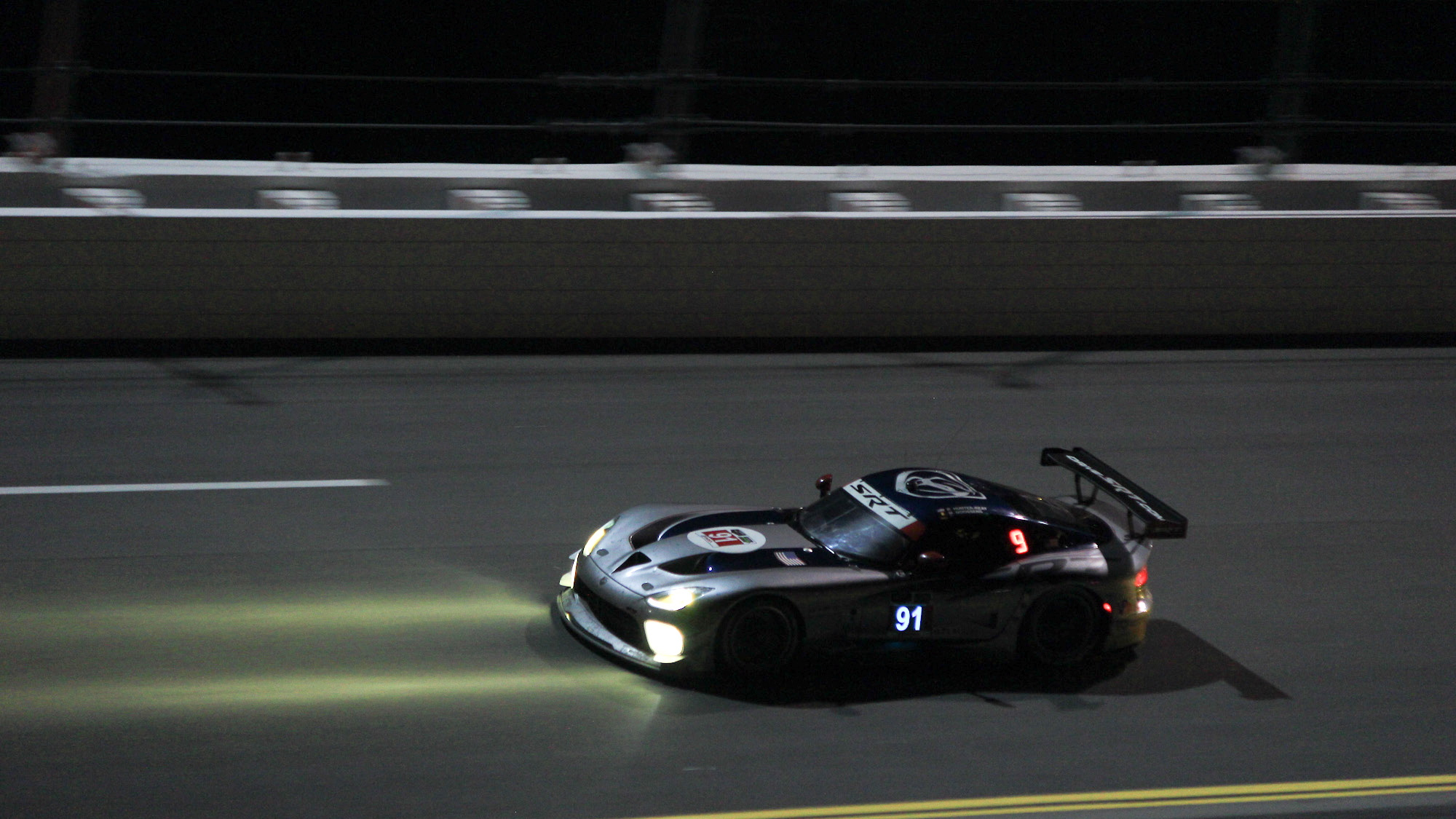 The 2014 Rolex 24 at Daytona at night