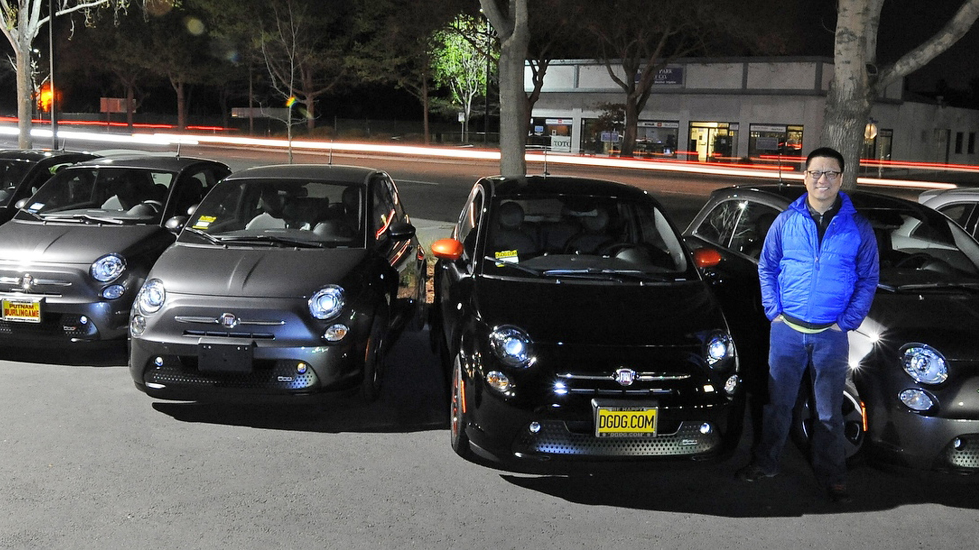 New Fiat 500e group shot, racers' group buy. Photo by Joe Nuxoll.
