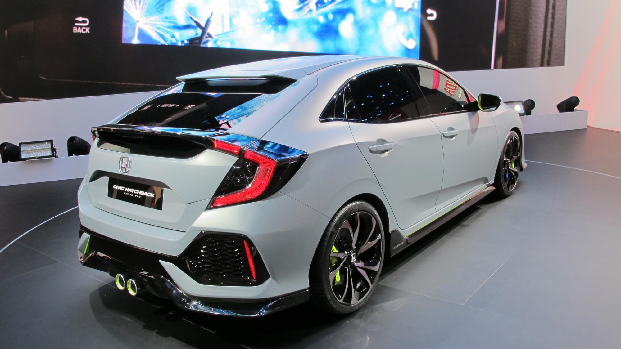 2017 Honda Civic Hatchback Prototype 2016 Geneva Motor Show