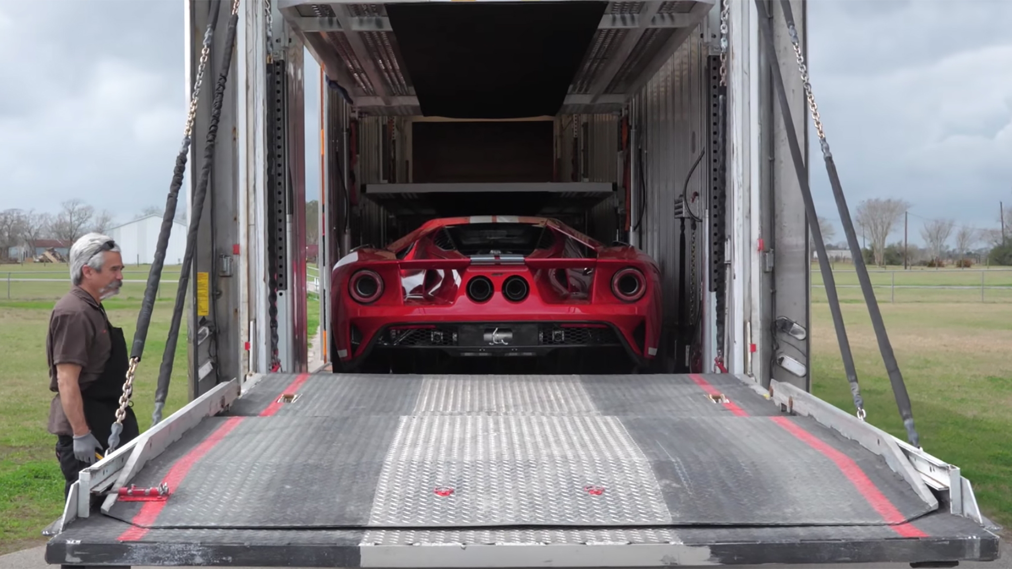 Hennessey shows how a new Ford GT gets delivered