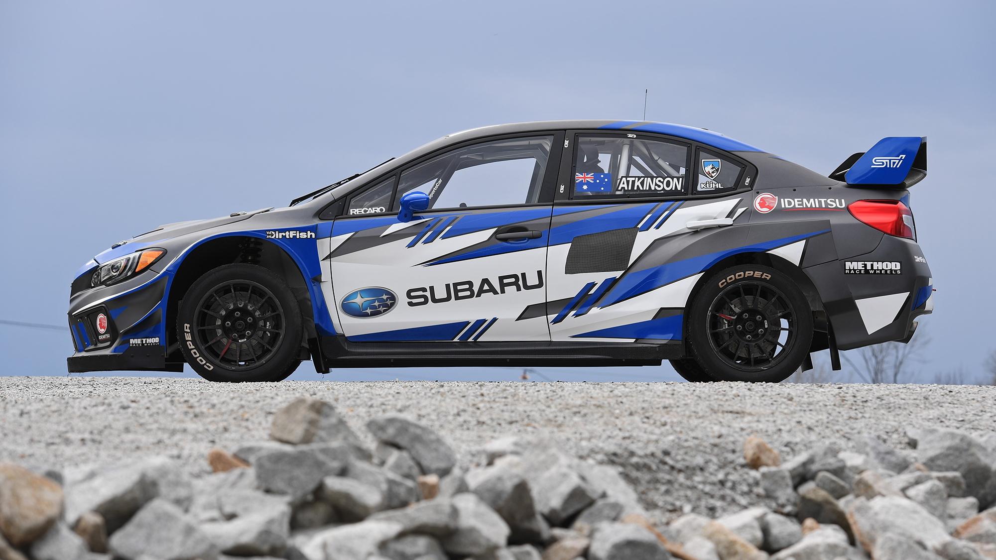 Chris Atkinson's Subaru Americas Rallycross Championship team car