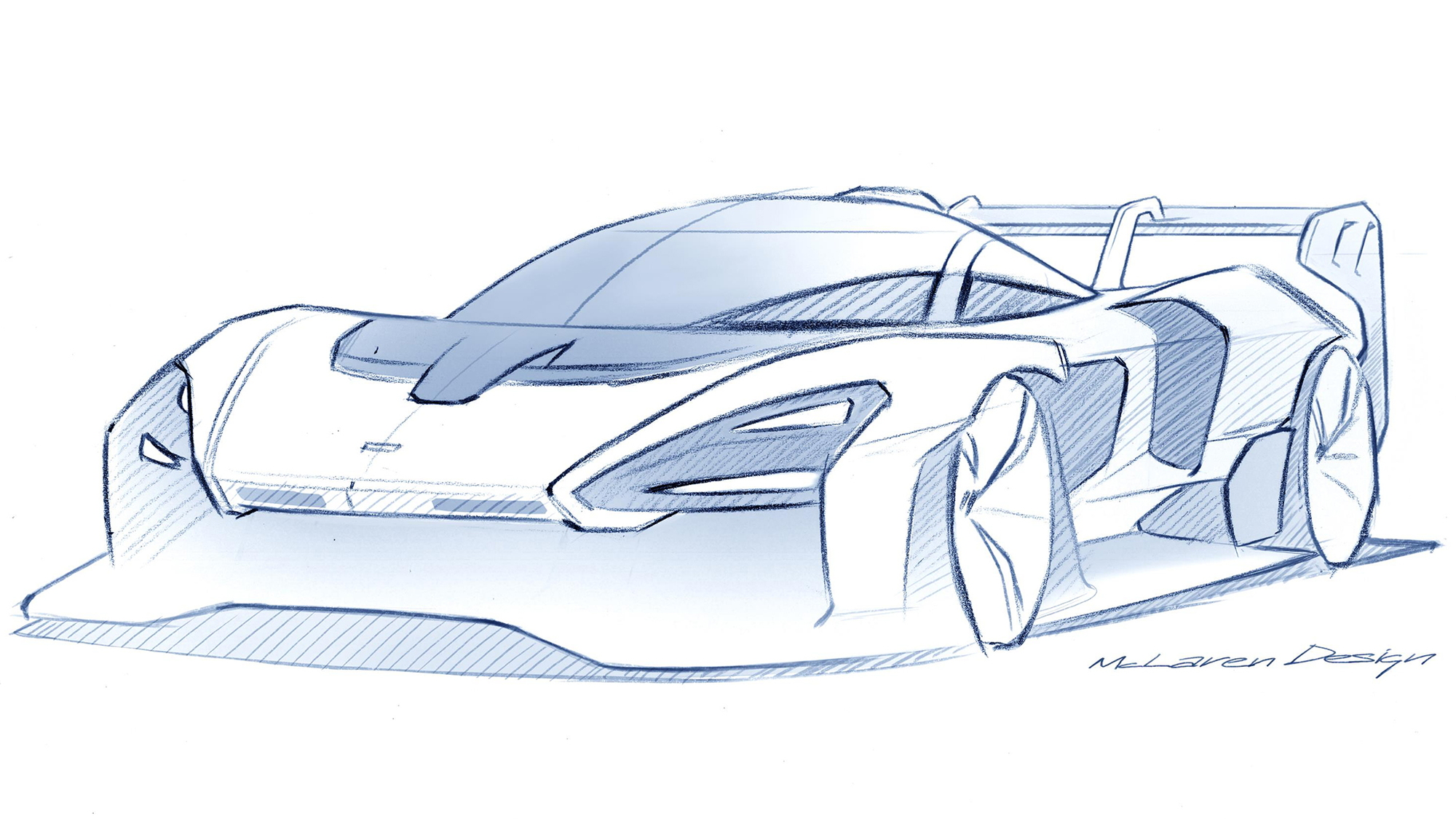 McLaren Senna GTR design sketch
