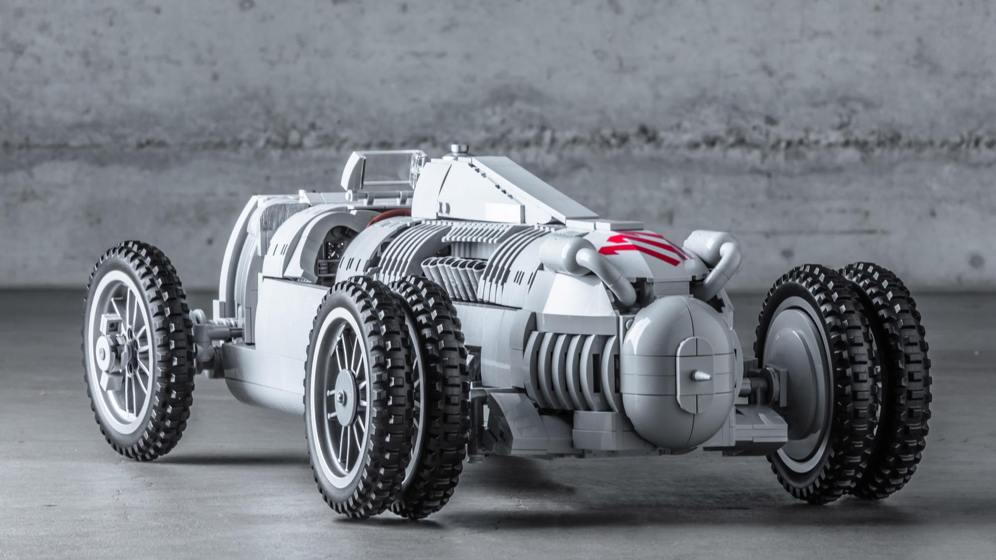 1936 Auto Union Lego race car