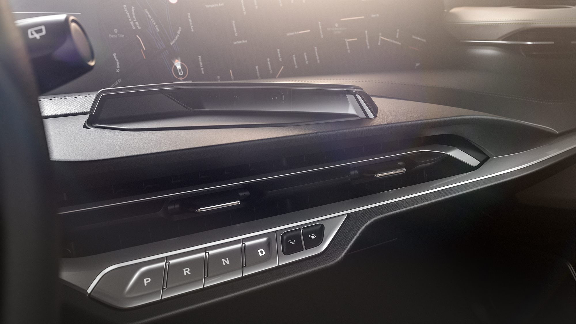 Teaser for Byton M-Byte SUV production interior