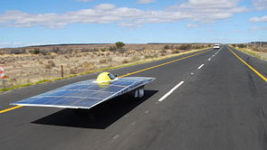 Current Race Leader and Winner of the South African Solar Car Challenge 2008, the Tokai Challenger