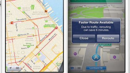 Apple Maps app - image courtesy of Apple