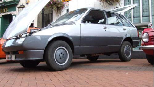 Experimental Lucas hybrid-electric car, developed in the 1980s