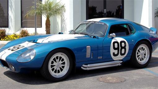 Carroll Shelby takes delivery of custom Cobra Daytona