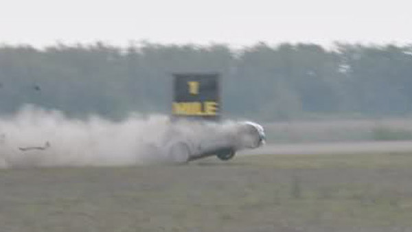 Hinson Motorsports Chevrolet Corvette Z06 flips at 230 mph