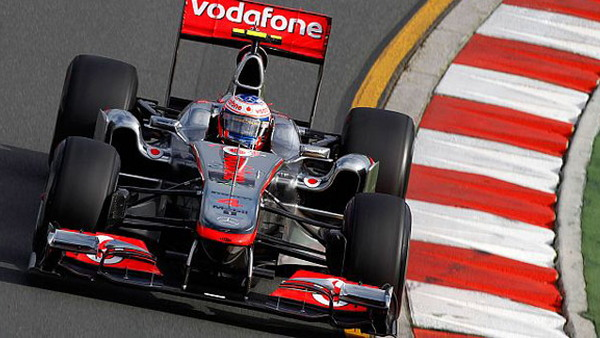McLaren driver Jenson Button at 2011 Canadian Grand Prix