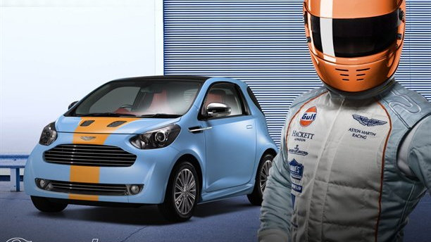 Aston Martin Cygnet in Aston Martin racing team colours
