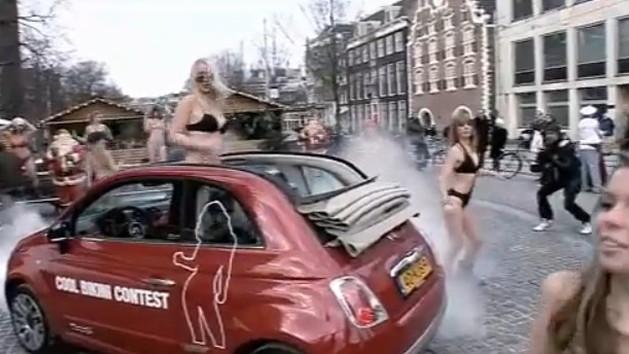 Fiat's 'Cool Bikini' flash mob promotion for the 500C