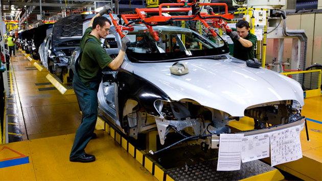 Jaguar XF assembly line