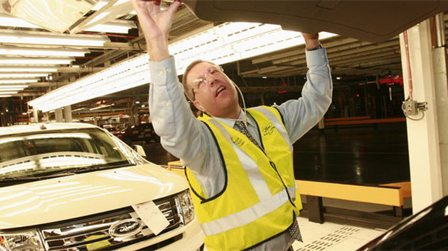 Ford VP Joe Hinrichs at the Oakville, Ontario plant