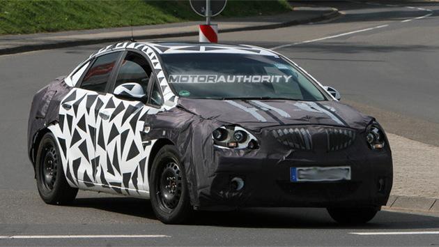 2011 Chevrolet Cruze-based Buick sedan spy shots