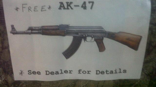 Florida truck dealership offering free AK-47 to buyers