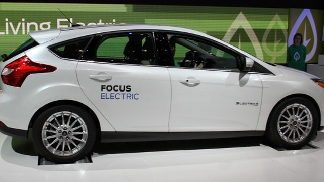 2012 Ford Focus Electric at 2011 Geneva Motor Show, photo by Robert Llewellyn