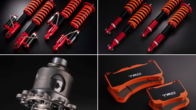 Lexus CCS suspension components.