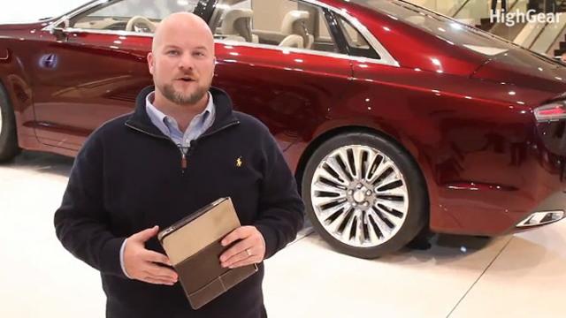 Screencap from Lincoln MKZ walkthrough video