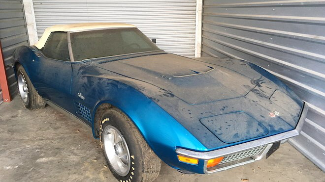 A 1972 Chevrolet Corvette Convertible with less than 1,000 miles