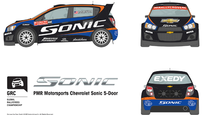 Chevy Sonic to race in Global RallyCross with PMR Motorsports