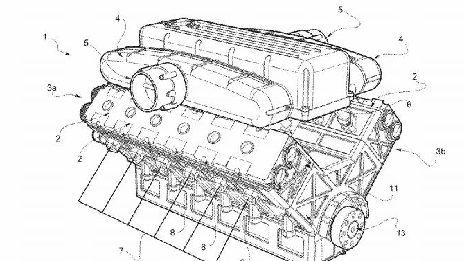 Ferrari V-12 patent