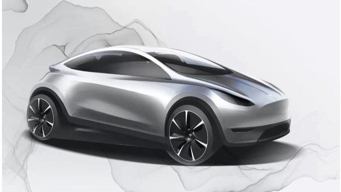 Possible sketch of China-only Tesla city car