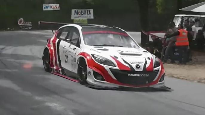 Mazda 3 hill-climb car hides a high-horsepower rotary secret