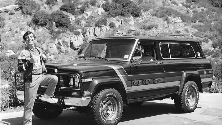 Jamie Farr and his Jeep Golden Hawk (photo courtesy Jamie Farr)