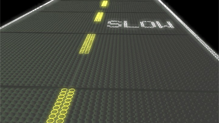 Mock-up of road design by Solar Roadways