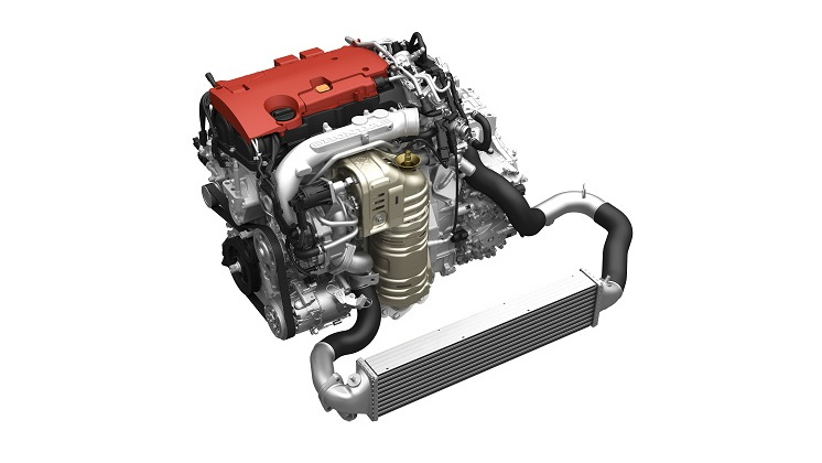 Honda direct-injected and turbocharged 2.0-liter four-cylinder VTEC engine