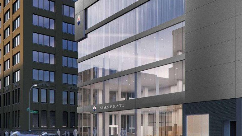 Maserati of Manhattan rendering courtesy CAI Architecture