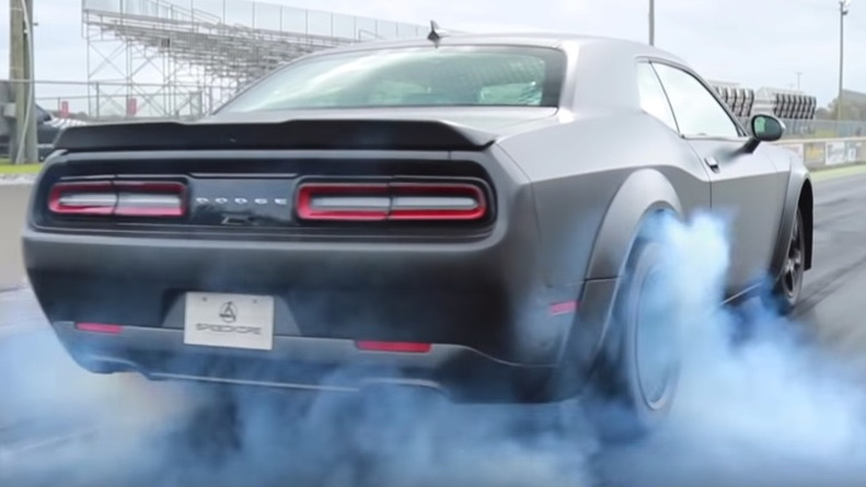 Speedkore Dodge Challenger Demon with 1,400 hp